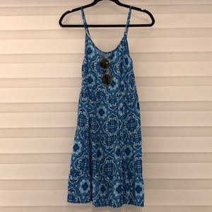 Blue print sundress